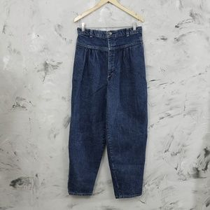 VINTAGE 80's Vintage Baggy Blue Jeans Size 4